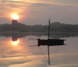 Dawn had not yet broken Kinvara sunrise. Photo: Norma Scheibe