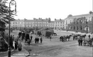 Eyre Square, Galway c.1897 National Library of Ireland Wikimedia Commons.