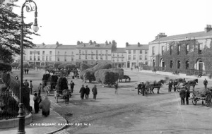 Eyre Square, Galway c.1897 National Library of Ireland Wikimedia Commons