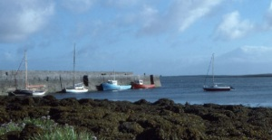 Ballyvaghan Harbour and Pier Photo: Dr Charles Nelson Wikimedia commons.