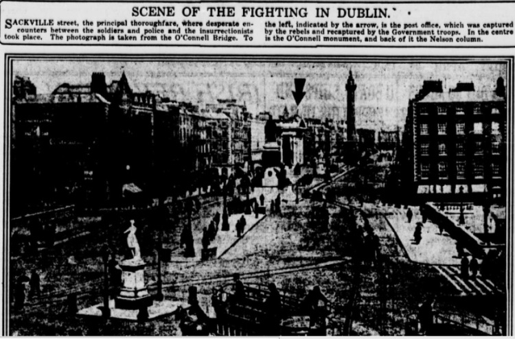 SCENE OF FIGHTING IN DUBLIN