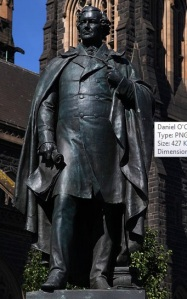 Statue of Daniel O'Connell  St. Patrick's Cathedral grounds, Melbourne Photo; Donaldytong Creative Commons