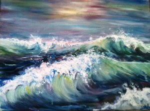 Wild atlantic waves Acrylic on canvas EO'D