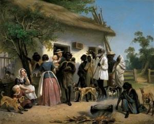 A scene in South Australia - 1850 Oil on canvas, 25.7 x 31.8 Alexander Schramm Art Gallery of South Australia