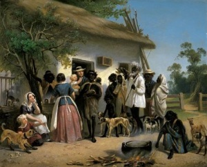 A scene in South Australia - 1850 Oil on canvas, 25.7 x 31.8 Alexander Schramm Art Gallery of South Australia