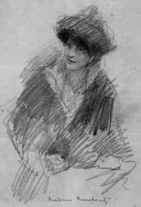 Countess Constance Markiewicz c.1922 by J.B.Yeats Wikimedia Commons