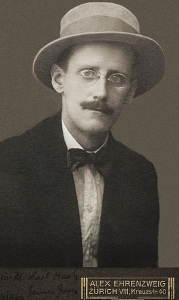James Joyce Photo: Alex Ehrenzweig 1915 Wikimedia Commons