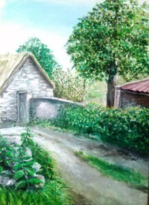 The Cottage Acrylic on Canvas EO'D