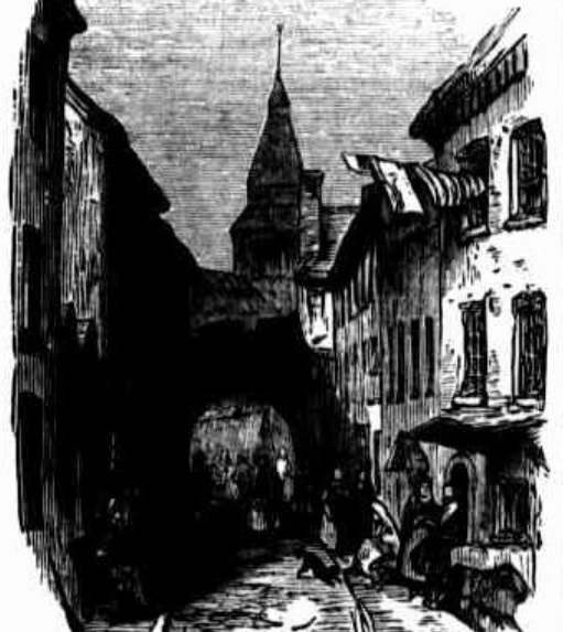 A street in Galway Australian Town and Country Journal 22nd August, 1874